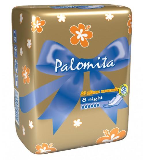 Нощни Превръзки Паломита Thin&Soft 8бр.